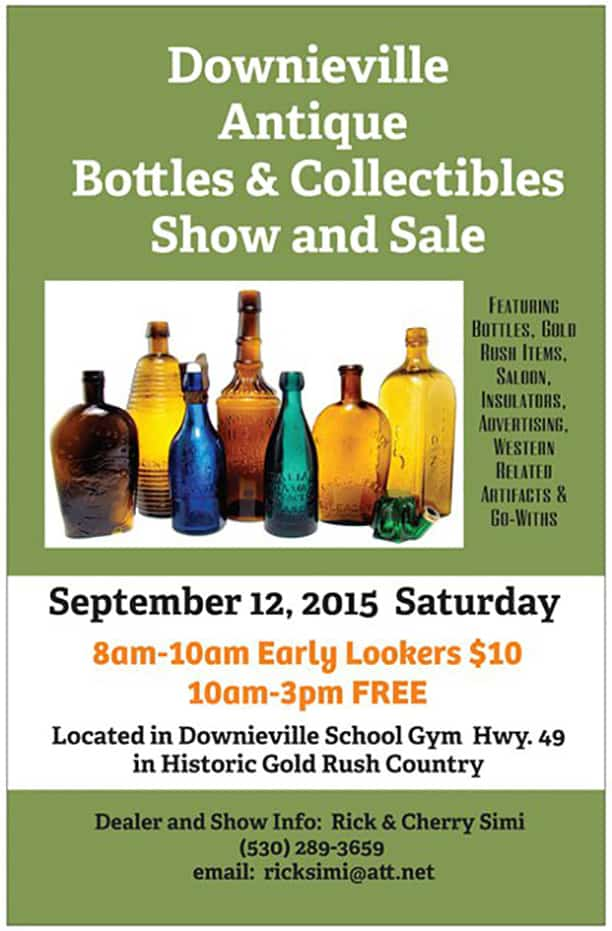 Downieville Antique Bottles & Collectibles Show and Sale