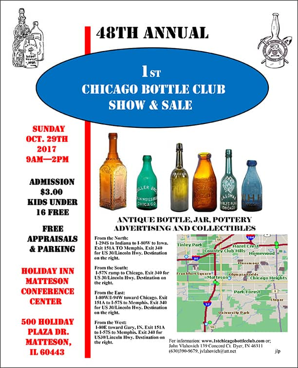 48th Annual 1st Chicago Bottle Clubs Show & Sale @ Holiday Inn Conference Center | Matteson | Illinois | United States