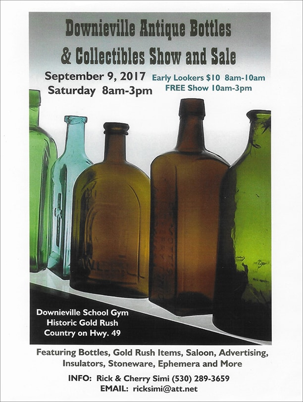 Downieville Antique Bottles & Collectibles Show and Sale @ Downieville School Gym | Alleghany | California | United States