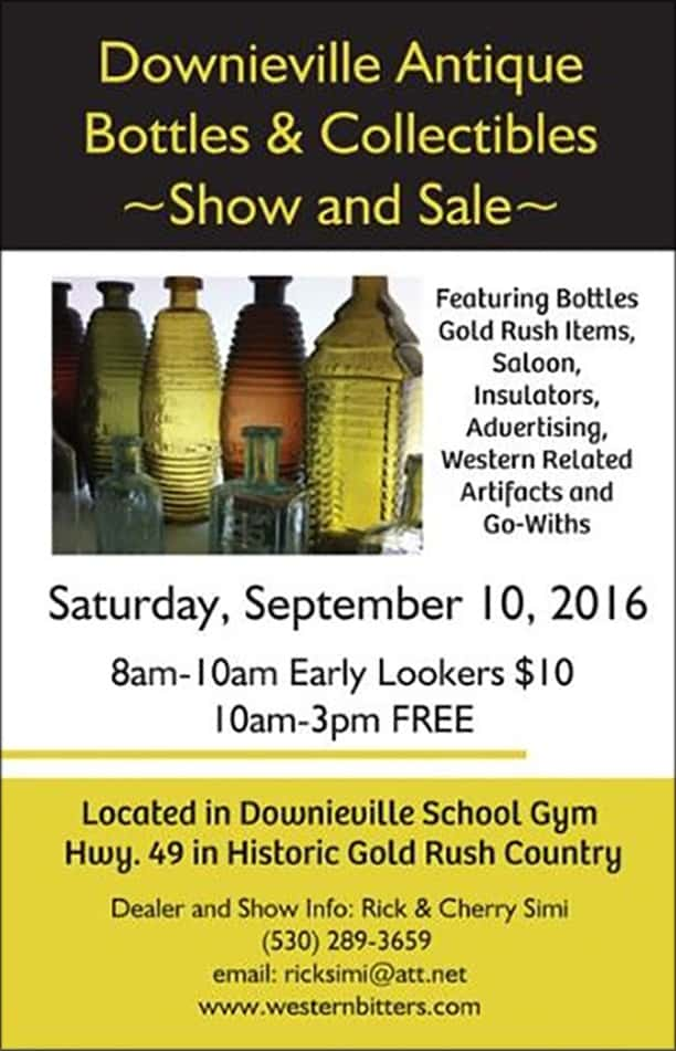 Downieville Antique Bottles & Collectibles Show @ Downieville School Gym | Downieville | California | United States
