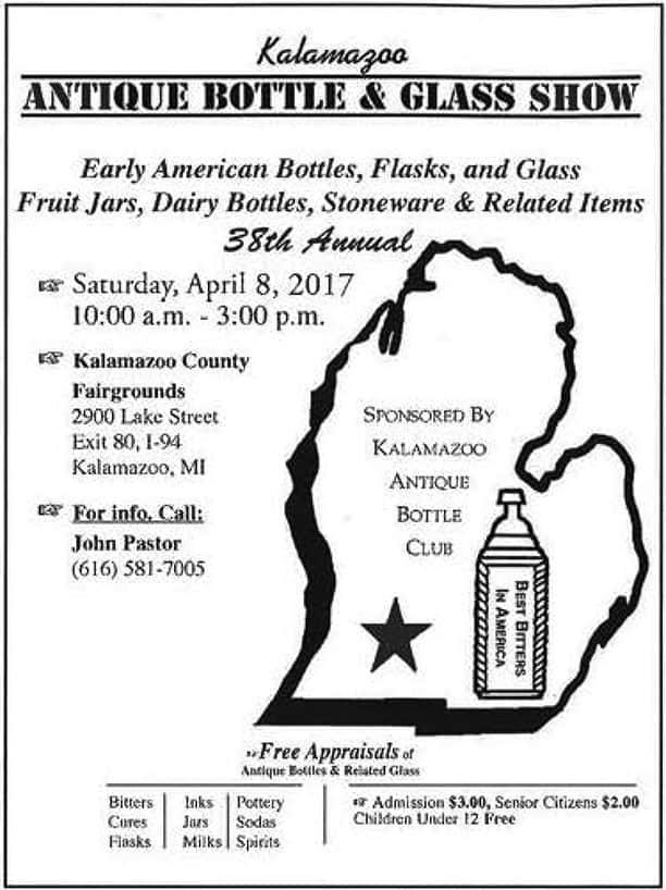 The Kalamazoo Antique Bottle Club's 38th Annual Show & Sale @ Kalamazoo County Fairgrounds | Kalamazoo | Michigan | United States