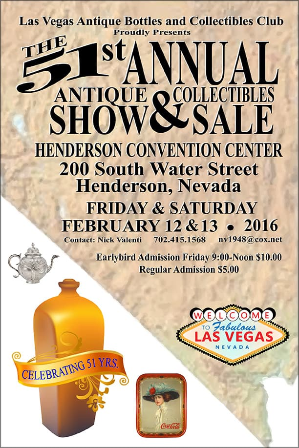 Las Vegas Antiques Bottles and Collectibles Club  @ Henderson Convention Center | Henderson | Nevada | United States