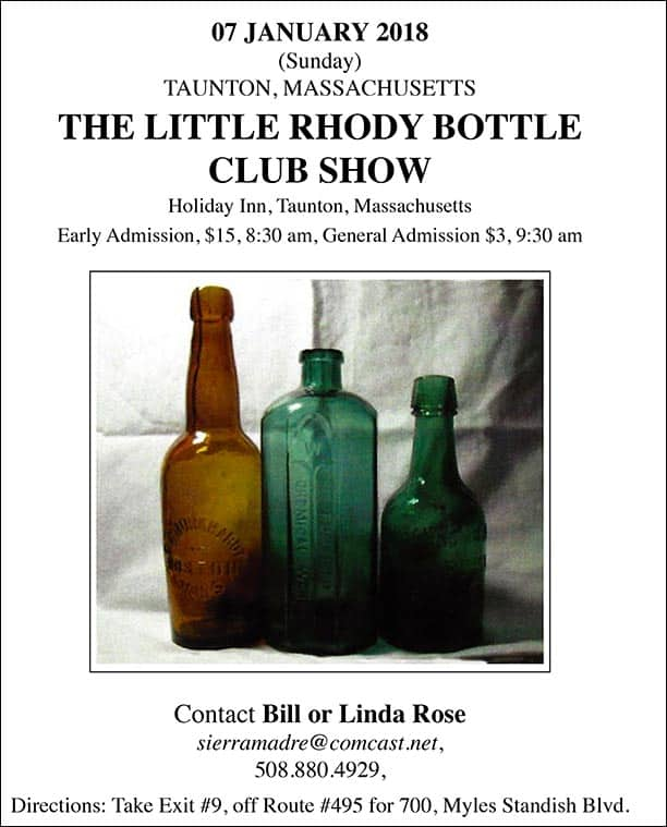 The Little Rhody Bottle Club Show @ Holiday Inn | Taunton | Massachusetts | United States