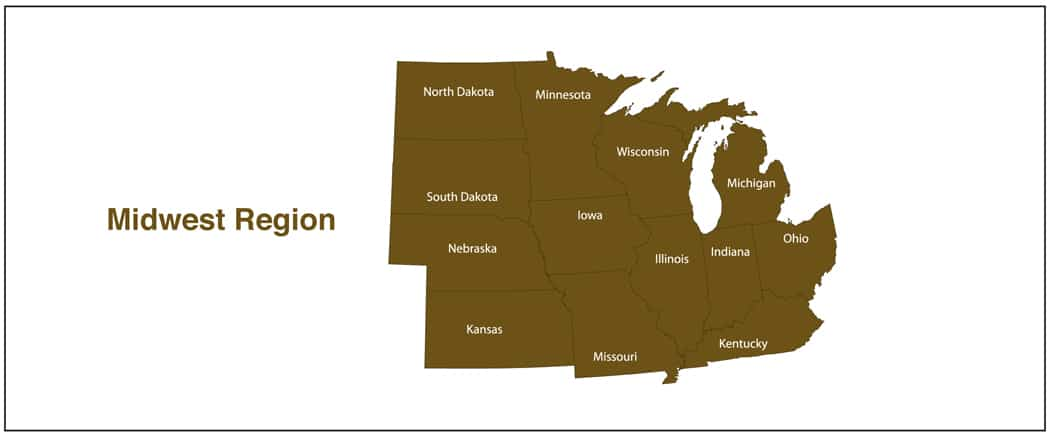 Midwest Region Map