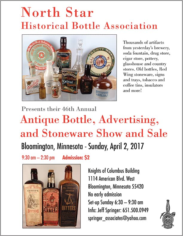 46th Annual Minnesota Antique Bottle, Advertising, and Stoneware Show & Sale @ Knights of Columbus Building | Bloomington | Minnesota | United States