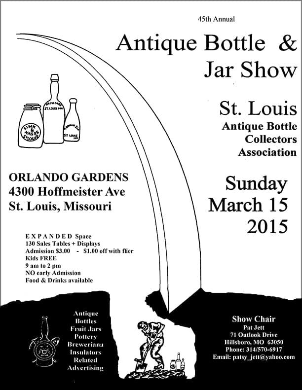 45th Annual Antique Bottle Show- St. Louis Antique Bottle Collectors Association @ Orlando Gardens | St. Louis | Missouri | United States