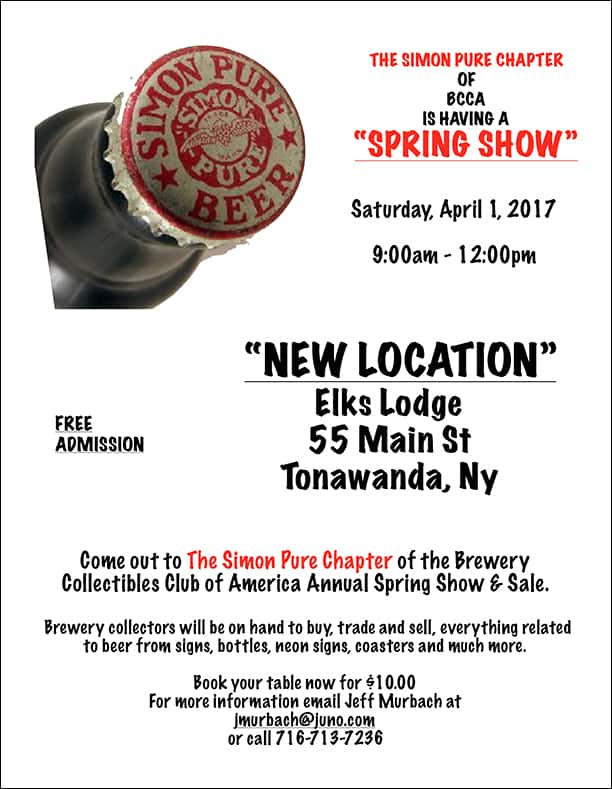 Simon Pure Chapter's Spring Trade Show @ Elks Club | Tonawanda | New York | United States