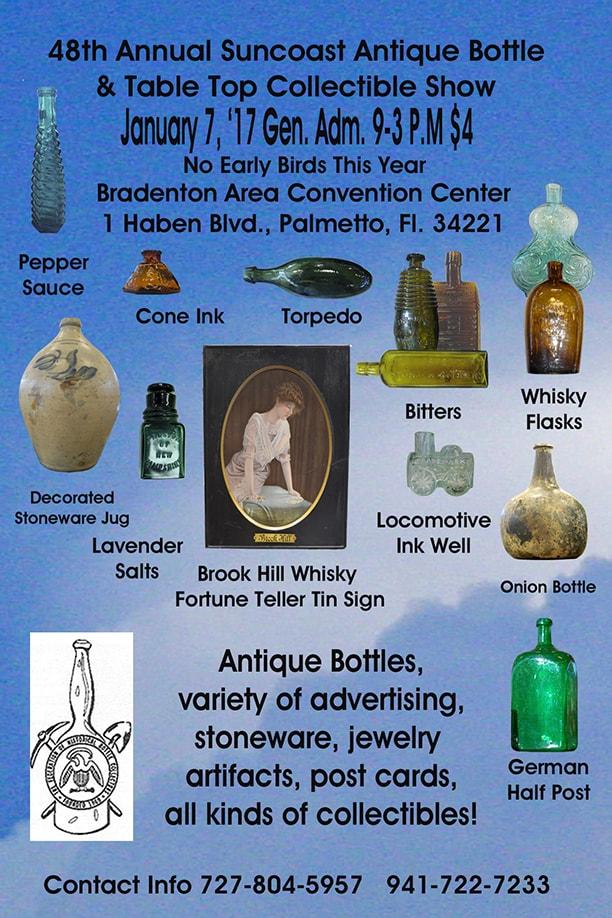 48th Annual Suncoast Antique Bottle & Table Top Collectible Show @ Bradenton Area Convention Center | Palmetto | Florida | United States