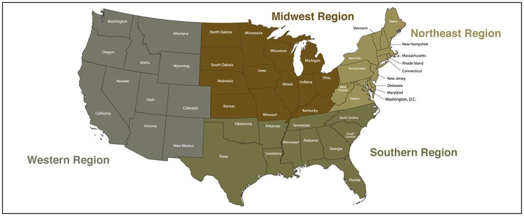 US Map Regions