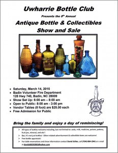 Uwharrie Bottle Club Flyer 2015