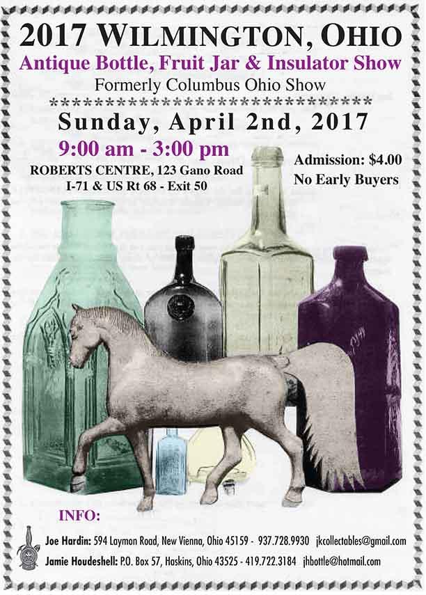 The 3rd Annual Wilmington, Ohio Antique Bottle Show & Sale @ Roberts Centre | Wilmington | Ohio | United States