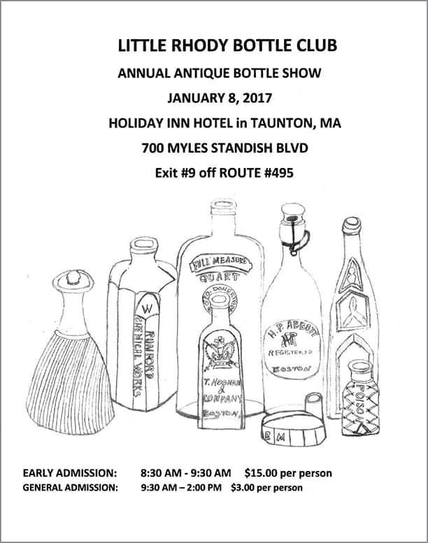 The Little Rhody Bottle Club Annual Antique Bottle Show @ Holiday Inn Hotel | Taunton | Massachusetts | United States