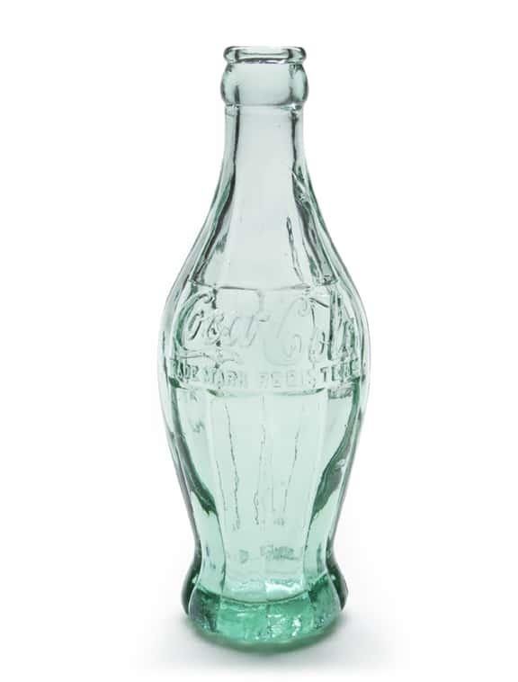 1915 Coca-Cola Prototype Bottle and Concept Sketch