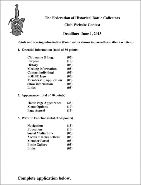 Microsoft Word - FOHBC club website contest application 2013.doc