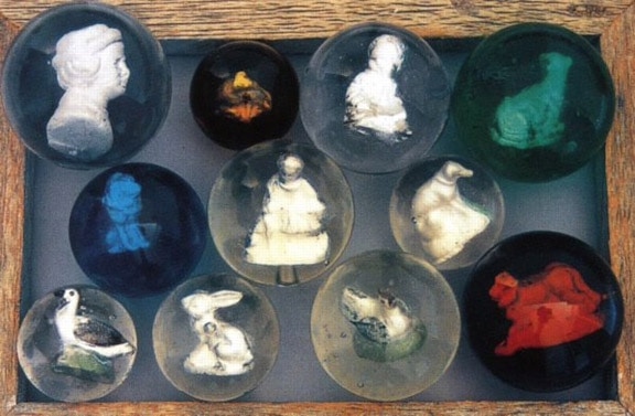Sulphide Marbles Or Figural Marbles