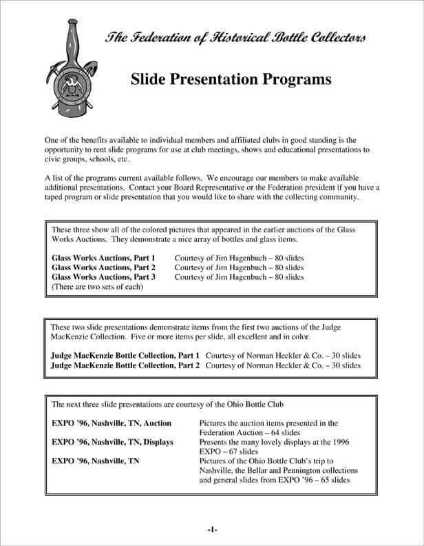 Microsoft Word - FOHBC slide programs.doc