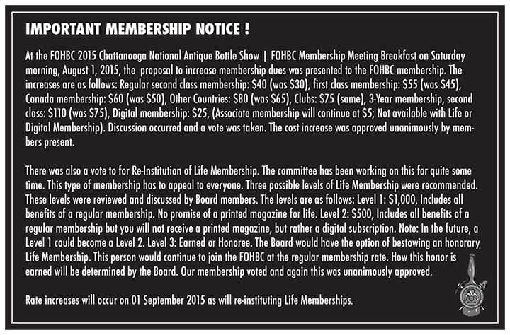 Membership Rate Increase Announcement