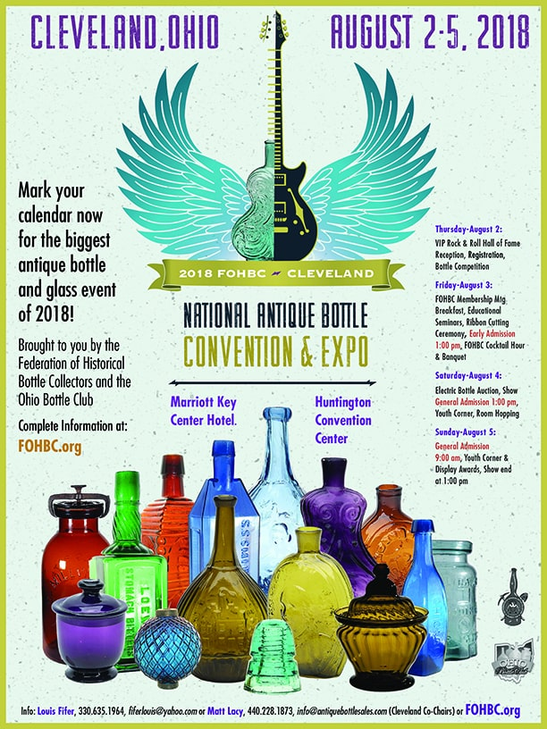 FOHBC 2018 National Antique Bottle Convention & Expo – Midwest Region @ Cleveland Convention Center | Cleveland | Ohio | United States