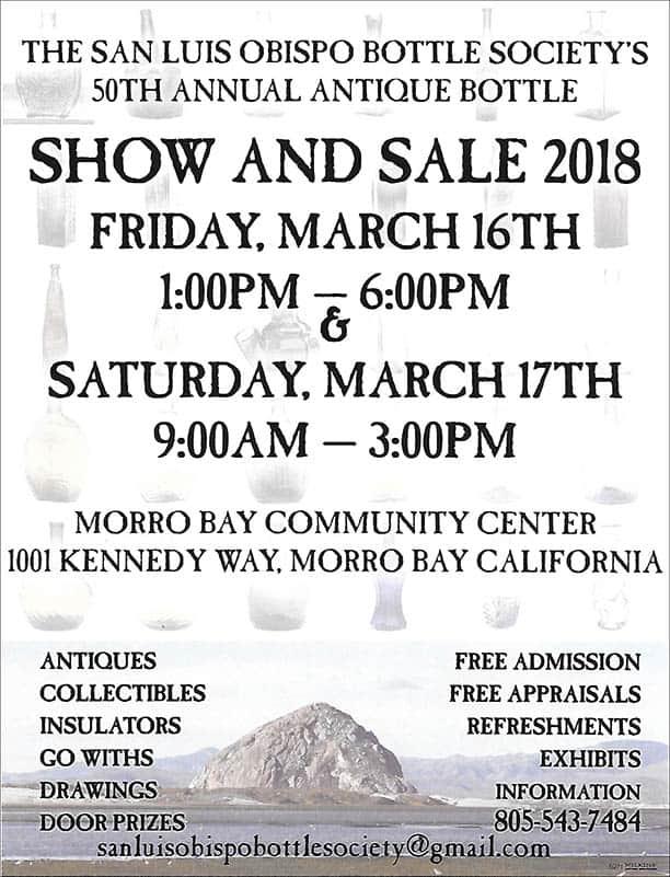 The Antique Bottle Show & Sale in Morro Bay @ Morro Bay Community Center | Morro Bay | California | United States