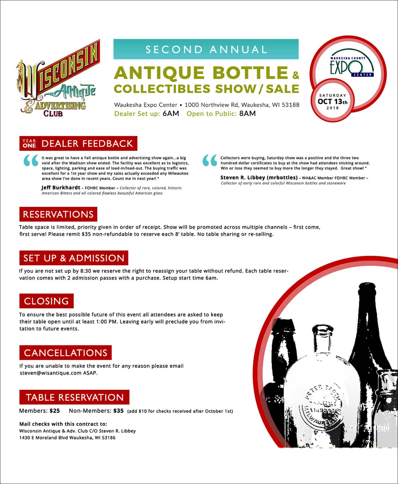 Second Annual Antique Bottle & Collectibles Show & Sale @ Waukesha Expo Center | Waukesha | Wisconsin | United States