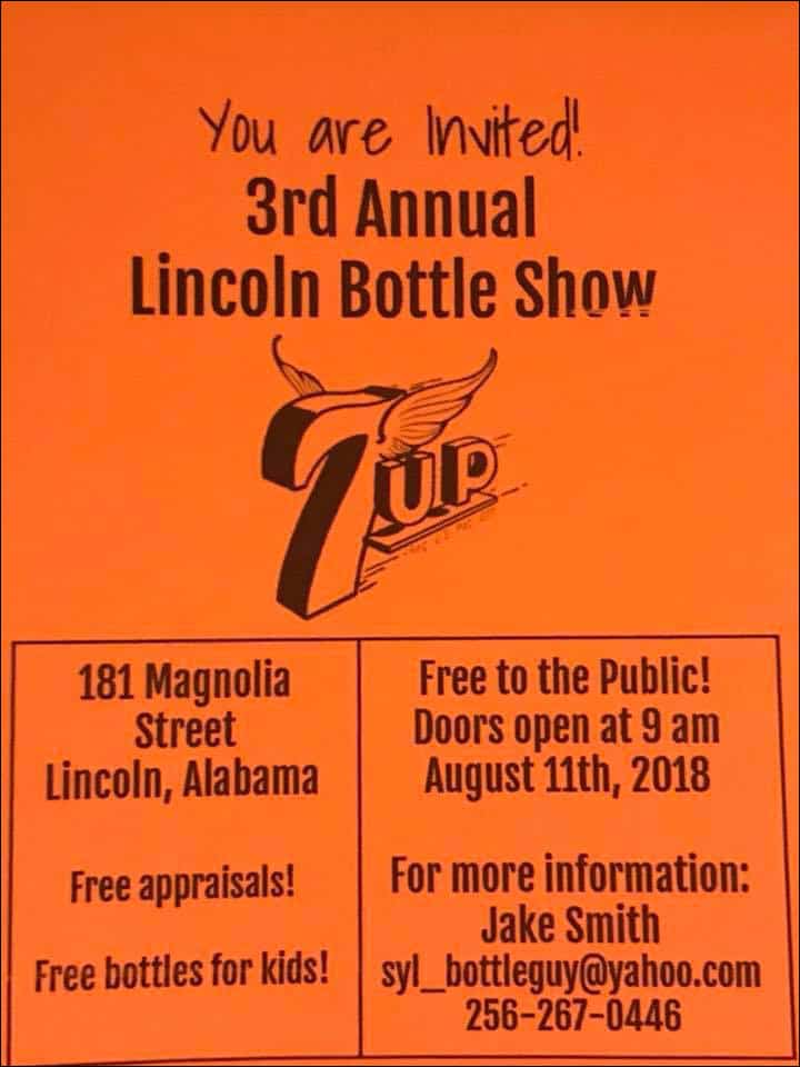 3rd Annual Lincoln Bottle Show @ 181 Magnolia Street  | Lincoln | Alabama | United States
