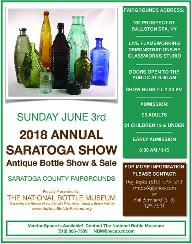 National Bottle Museum's Annual Saratoga Springs Show & Sale @ Saratoga County Fairgrounds | Ballston Spa | New York | United States