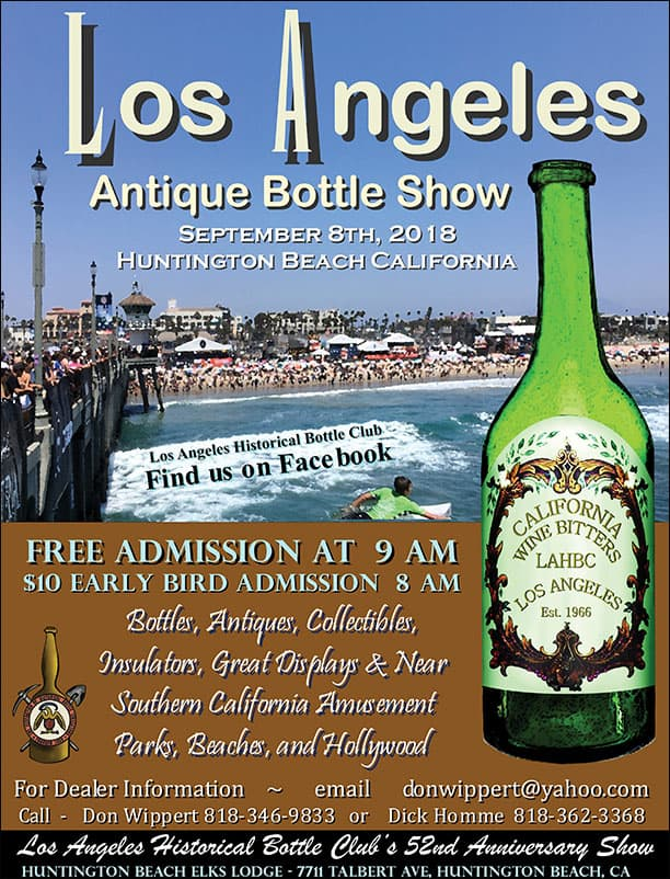 Los Angeles Historical Bottle Club's 52nd Anniversary Show @ Elks Lodge | Huntington Beach | California | United States