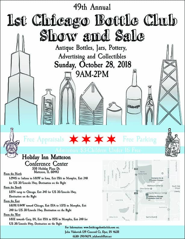 1st Chicago Bottle Club's 49th Annual Show and Sale @ Holiday Inn Matteson Conference Center | Matteson | Illinois | United States