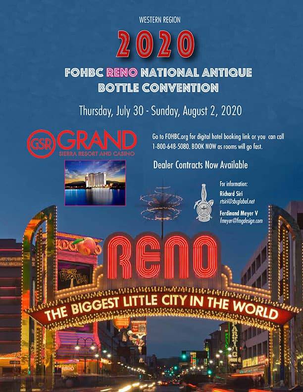 RENO 2020 National Antique Bottle Show & Expo