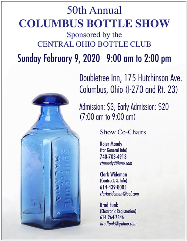 The Central Ohio Antique Bottle Club's 50th Annual Show & Sale @ Doubletree Inn
