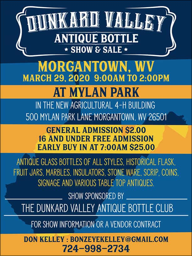 Dunkard Valley Antique Bottle Show & Sale @ Agricultural 4-H Building