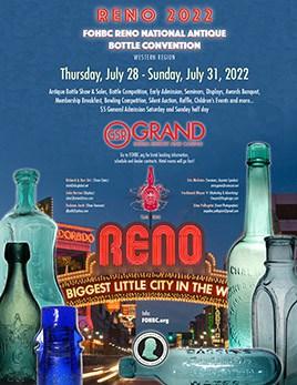 FOHBC Reno 2022 National Antique Bottle Convention - Poster